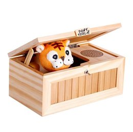 Wholesale Don t Touch Useless Box Hot sell lovely wooden box don t touch me tiger automatically turn off useless box truelovewangwu