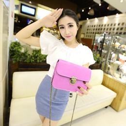 New Arrival Fashion Retro Lock Mobile Phone Shoulder Bag Handbag Mini Cross Body Girl's Candy Color Bag