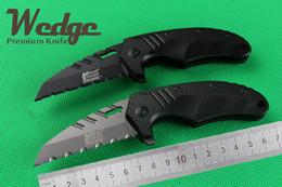 Wholesale WEDGE Mtech F75 Karambit Claw Small Fast open Half Serrated Jackknife Folding Pocket OEM EDC knife Aluminum Best Gift Survival knives