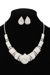 Luxury Rhinestone Bridal Accessories Wedding Jewelry Sets Necklace Earrings Accessories Two Pieces Cheap Fashion Style Hot CPA797