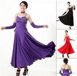 2018 New Clothing For Ballroom Dancing Women Standard Waltz Dance Dresses Lady Modern Dance Skirt Practice Performance Stagewear