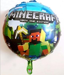 Wholesale 2016 Minecraft balloon Kids Fashion cartoon balloon Minecraft decorate