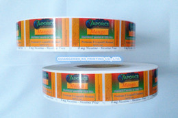 Wholesale Labels stickers printing custom adhesive labels stickers on rolls food stickers labels manufacturer
