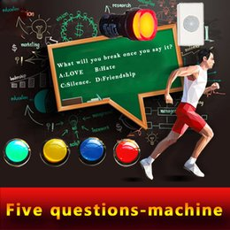 Wholesale Real room escape game prop question machine question and answer machine answer the questions to open lock