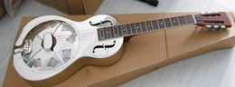Wholesale Brass Body Parlour size Highway bluegrass Blues Slide resonator guitar with free case