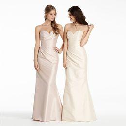 Vintage Style Sweetheart Pleated Bridesmaid Elegant Dress Zip Back Dress Wedding Party Wholesale Price European American Style