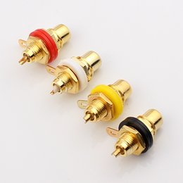 Wholesale Gold Plated RCA Terminal Jack Plug Female Socket Chassis Panel Connector for Amplifier Speaker