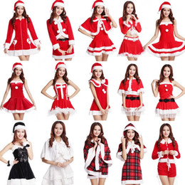 Wholesale Christmas clothing best selling product Christmas stage performance clothing Performing party suit pleuche fabrics sales of free