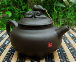 Wholesale Three feet Antique Teapot Authentic Yi xing purple clay pot kongfu tea set cc lion pot