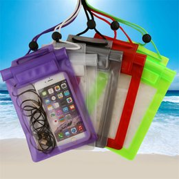 Wholesale DHL Promotion Clear Waterproof Underwater Pouch Bag Dry Pack Case Cover cm Big Size Bag For Phone iPhone Samsung HUAWEI inches