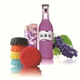 Wholesale New Hot Candy Colors Keep Bear fresh Wine Stopper Silicone Original Wine Bottle Cover Beer Wine Bottle Cap Kitchen Gadgets