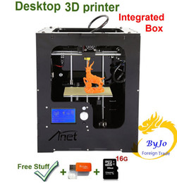 Wholesale 2016 New Upgrade desktop D Printer Integraded Box Size mm Acrylic Frame LCD G TF Card for gift Optional Filament