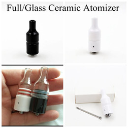Wholesale Full Ceramic Glass Wax Atomizer Donut Wickless Coils Herbal Pyrex Vaporizer Tank Hookah Globe Bulb Vase Cannon Bowling Vape Pen Mod