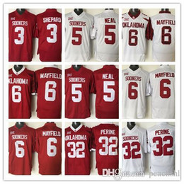 Wholesale 2016 Football Ncaa College Oklahoma Sooners Jersey Sterling Shepard Durron Neal Baker Mayfield Samaje Perine White Red