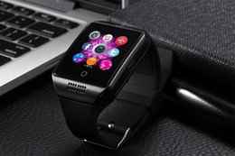 Wholesale Smart Watch Q18 Arc Clock With Sim Card NFC Bluetooth Connection for iphone Android Phone Smartwatch Beautiful Than U8 DZ09