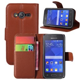 Wholesale Lichi PU Leather Wallet case for Samsung ACE G313H Trend Lite G31 Protective Stand Card Slot Phone Cover for Samsung Colorful