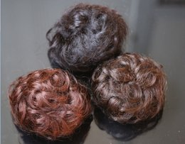 Wholesale-Wholesale Pony Tail Hair Extension Bun Hair piece Scrunchie 100% hair bun curl hair bun
