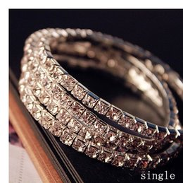 fashion 2016 bling bling New without tags sliver plated bracelet Rhinestones Diamond Designer Evening Bangles Bridal Accessory Jewelry