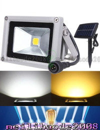 Wholesale 10W Solar Powered Lamp LED Floodlight Waterproof Outdoor Flood Light Garden Yard Lawn Light Landscape Spotlight Wall Lamp Decoration Light