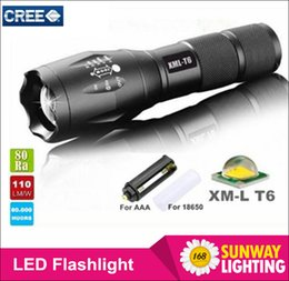 Wholesale G700 E17 CREE XM L T6 LM Aluminum Zoomable LED Flashlights Torches lamplight for Rechargeable or AAA Battery