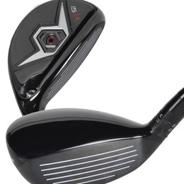 Wholesale New mens Golf clubs H Golf hybrid wood loft Graphite Golf shafts Free wood clubs shipping
