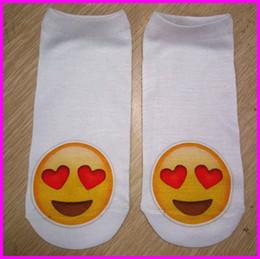 2016 HOT Printing Emoji Socks Cartoon Ladies Slippers Women's Socks Ankle Socks For Girls Teenagers Cute Low Cut Sock Protective Sleeves