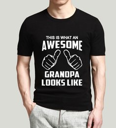 Wholesale Funny Mens T Shirt This Is What An Awesome Grandpa Looks Like Cotton Letter Print Short Sleeve Tee Shirt Casual O Neck Tops