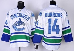 Wholesale CHEAP HIGH QUALITY MEN VANCOUVER CANUCKS ALEXANDRE BURROWS WHITE AWAY PREMIER STITCHED ICE HOCKEY JERSEY