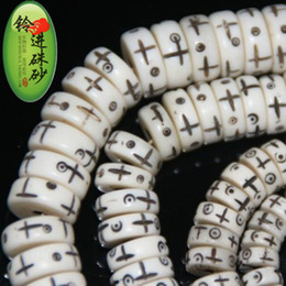 Wholesale Pure natural bone carving cross spacer beads Tibetan DIY beads bracelets jewelry antique antique accessories