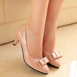 2016 new beauty bow with black women's leather shoes, ladies shoes shoes shoes dress occupation