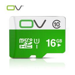 Promotion mémoires vidéo OV d'origine réel Capacité de carte Micro SD 16G Classe microsd mémoire carte 10 TF pour la vidéo pour appareil photo pour téléphone