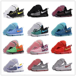 Wholesale Kd Basketball Shoes Sneakers Runing Kevins Kds VIIII Lowe Elite Blue Durant Men s Athletic Kd9 Sports Shoes