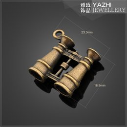 Wholesale Telescope alloy charm pendant Antique bronze DIY jewelry accessory SH4989 DIY jewelry Findings Components
