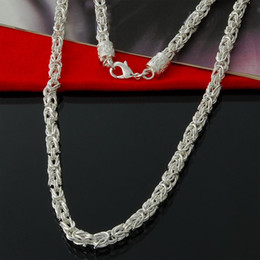 Wholesale Special Offer Sterling silver Byzantine Chain necklace classic jewelry mm man jewelry chains necklace gift