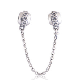 LOVE CONNECTION SAFETY CHAIN 100% 925 Sterling Silver Bead Fit Pandora Fashion Jewelry DIY Charm Brand