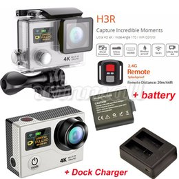 Wholesale Original EKEN H3R K Action Camera Extra Battery Dock Charger Waterproof Sports DV wifi P fps Degree Lens Gopro Hero Style