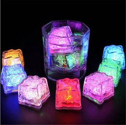 Wholesale 192pcs Party Supplies Button Switch Color Lights Controllable LED Light Glowing Ice Cubes Luminous Ices