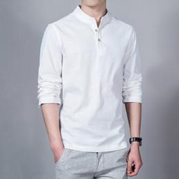 Wholesale Fashion Long sleeve Men s shirts male casual Linen shirt men DX366 Asian size camisas