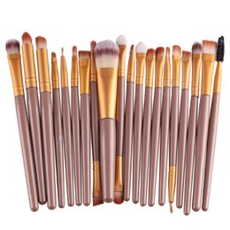 Mybasy 20Pcs Contour Eye Makeup Brushes Set Eyeshadow Concealer BB Cream Blending Powder Foundation Lip Eyeliner Cosmetic Tool