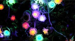 10M100LED roses Valentine's Day confession string lights waterproof outdoor holiday lights LED lights arranged marriage room