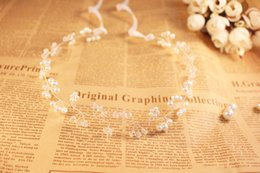 Delicate Gold or Sliver Bridal Headpiece with Pearls Crystal Beads Wedding Hair Accessories Headpieces Hair Band For Brides