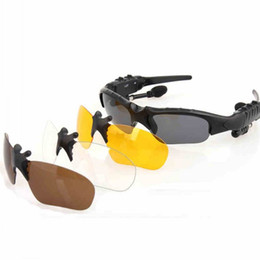 Wholesale Smart Wear Fashion Bluetooth Sunglasses With Earphone Sports Stereo Headphone Driving Sunglasses Riding Eyes Glasses With Retail Box