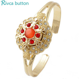 Newest High quality Mix Many Charm Rhinestone styles Gold Bracelet For women Fit Ginger Snap Button 18mm rivca Snaps Jewelry NOOSA chunk