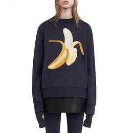 Wholesale Acne Studios Collection Emoji Inspired Hoodies Doughnut Banana Embroidery Printed Trendy Women Pullovers Unisex Sweatshirts Girls Jumpers