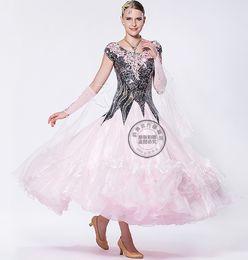 embroidery flower customize Fox trot ballroom Waltz tango salsa Quick step competition dress