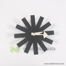 Wholesale CW07 hot sales designers wall clocks Black clock Asterisk Clock by G N Designer wall clock