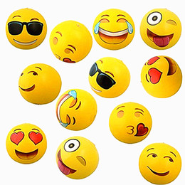 Wholesale Inflatable Beach Balls Inflatable Emoji Ball Inches Pack Inflatable Emoji Beach Water Balloons Balls For Kids and Adult Outdoor Play