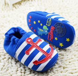 2016 Navy Style Baby First Walker Shoes Infant Boys Girls Soft Bottom Shoes Toddler Fashion Cotton Shoes 6pairs lot