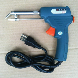 Wholesale 110V W manual soldering gun automatic solder wire feeding tool electric soldering iron weld for circuit borad