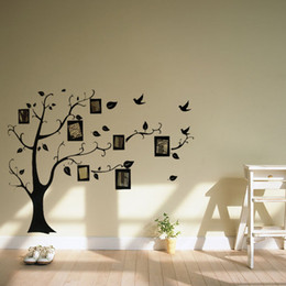 Wholesale Best Promotion New Art Decal Wall Stickers Photo Frame Tree Family Picture Vinyl Wall Sticker Home Decor Decals